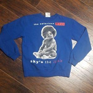 Vintage biggie skys the limit rap sweatshirt mediu